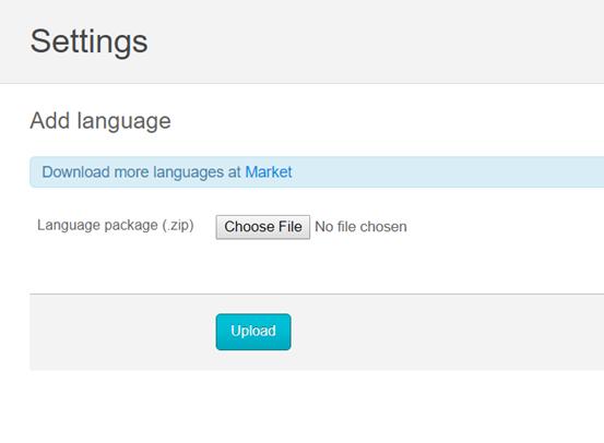 add a new language to osclass