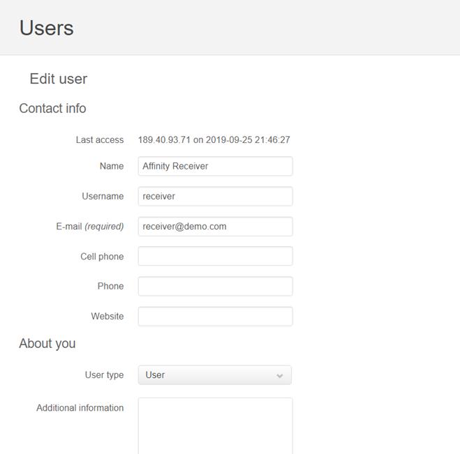 add/edit user